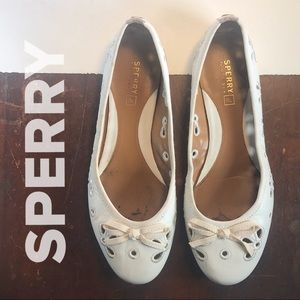 SPERRY Ivory Ballet Flats with Daisy Cutouts🌼